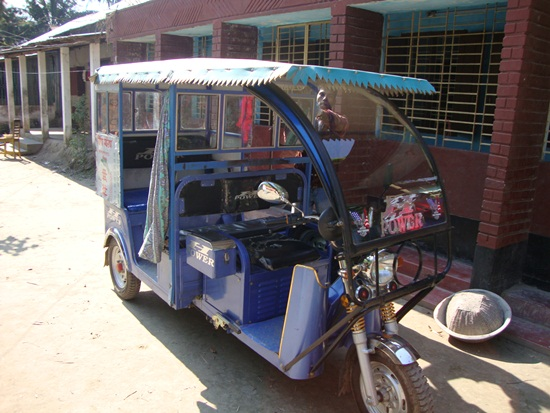 "This is the popular local vehicle called ""Tom Tom"""