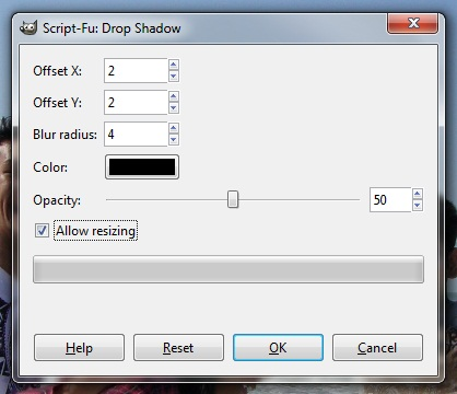 create a drop shadow