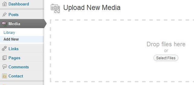 add new media on wordpress