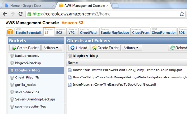 amazon s3 console overview