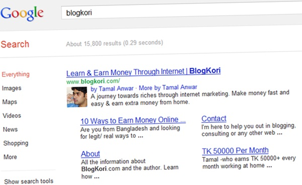 google authorship avatar
