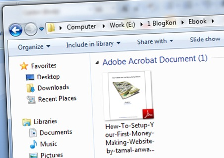 the pdf in your computer