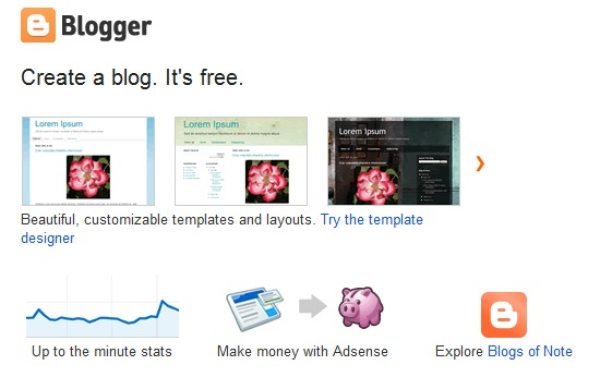 Start a Blog for Free Using Blogger