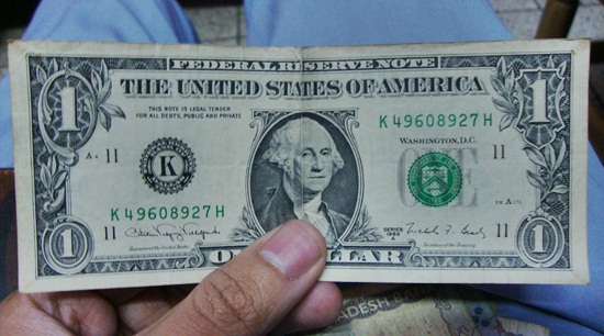 make money blogging - one dollar bill