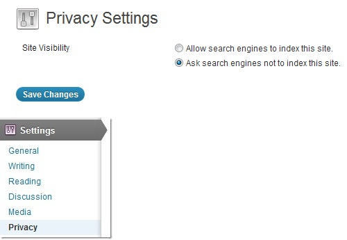 privacy settings in wordpress