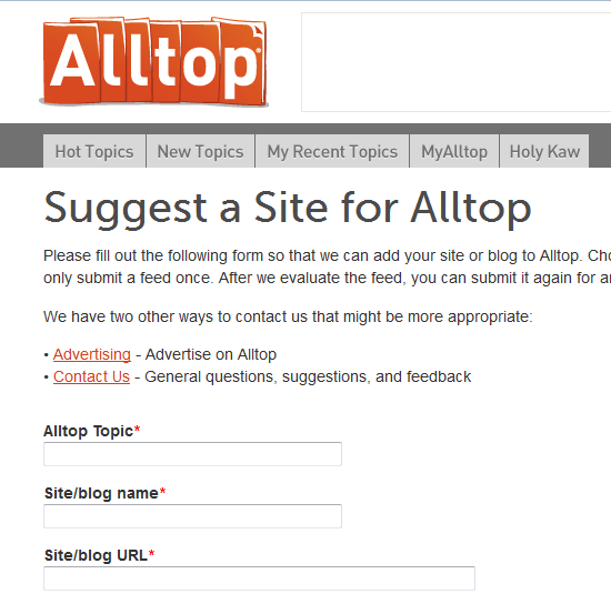 suggest your blog to alltop