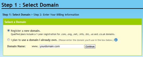 register a free domain