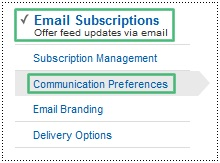 offer ebook in feedburner email subscriptions area