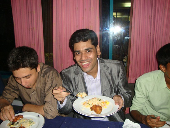 tamal-anwar with food over at devsteam
