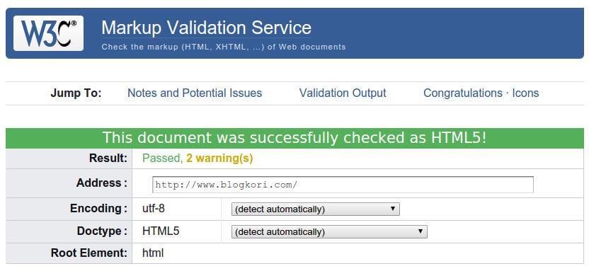 validated as html5